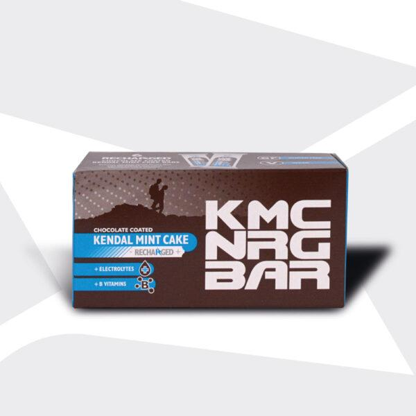 KMC NRG BAR Chocolate Coated Kendal Mint Cake Recharged 50g