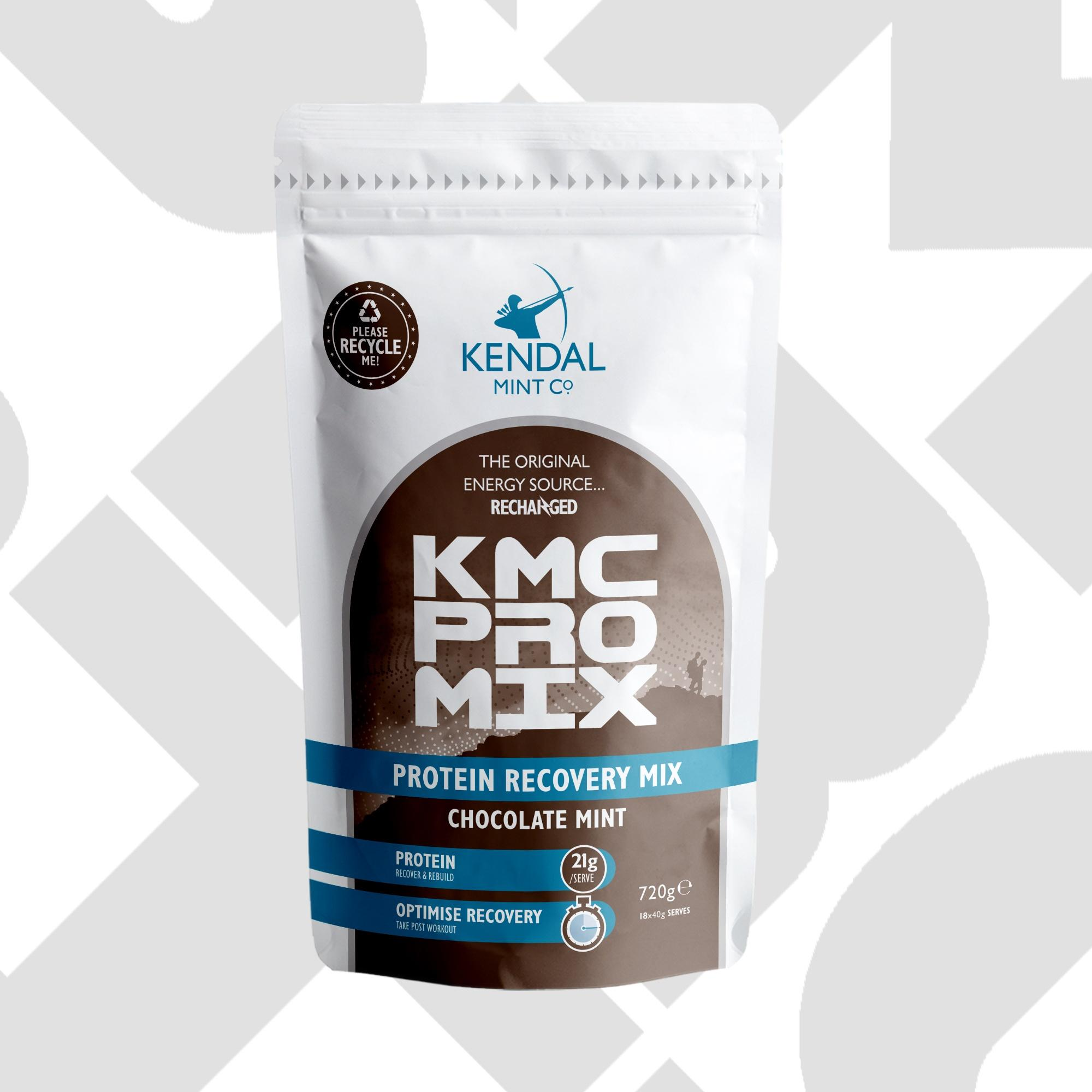 KMC PRO MIX: Chocolate Mint - Protein Packed Recovery Powder 720g Bag